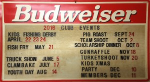 club event sign
